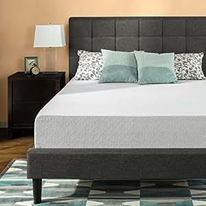 zinus 12 inch gel infused green tea memory foam mattress queen kitchen dining. Black Bedroom Furniture Sets. Home Design Ideas