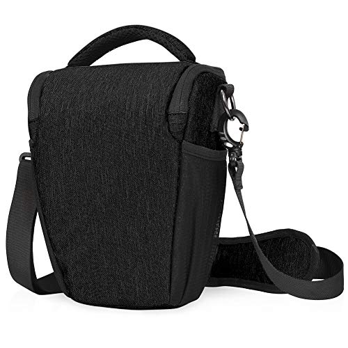 CADeN DSLR/SLR Camera Shoulder Bag Case with Adjustable Shoulder Strap, Compatible for Nikon, Canon, Sony Mirrorless Cameras Waterproof Black
