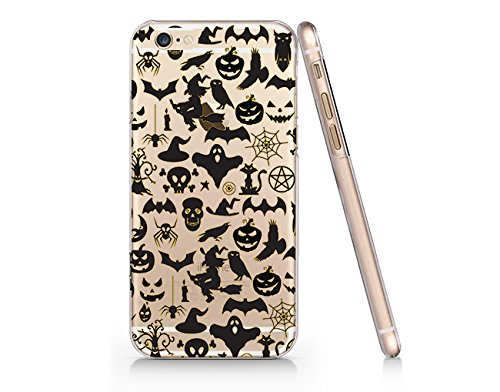 [Halloween Ghost Skull Pumpkin Iphone 6 6s Case, Clear Iphone Hard Cover Case For Apple Iphone 6 6s Emerishop] (Halloween Cut Out Patterns For Pumpkins)