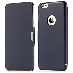 300pcs/lot DHL/Fedex Wholesale Brown Slim thin Magnetic Flip Leather Case for iphone 6 Plus 5.5 Cloth Skin Cover Luxury RCD04222 --- Color:Green