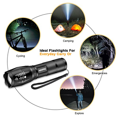AUOPRO-Super-Bright-LED-Tactical-Flashlight-Pack-of-4-Zoomable-Handheld-Torch-Light-800-Lumens-CREE-XML-T6-5-Modes-for-Home-Emergency-Camping-Hiking-EDC