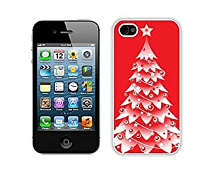 Hot Sell Design Christmas tree White iPhone 4 4S Case 8