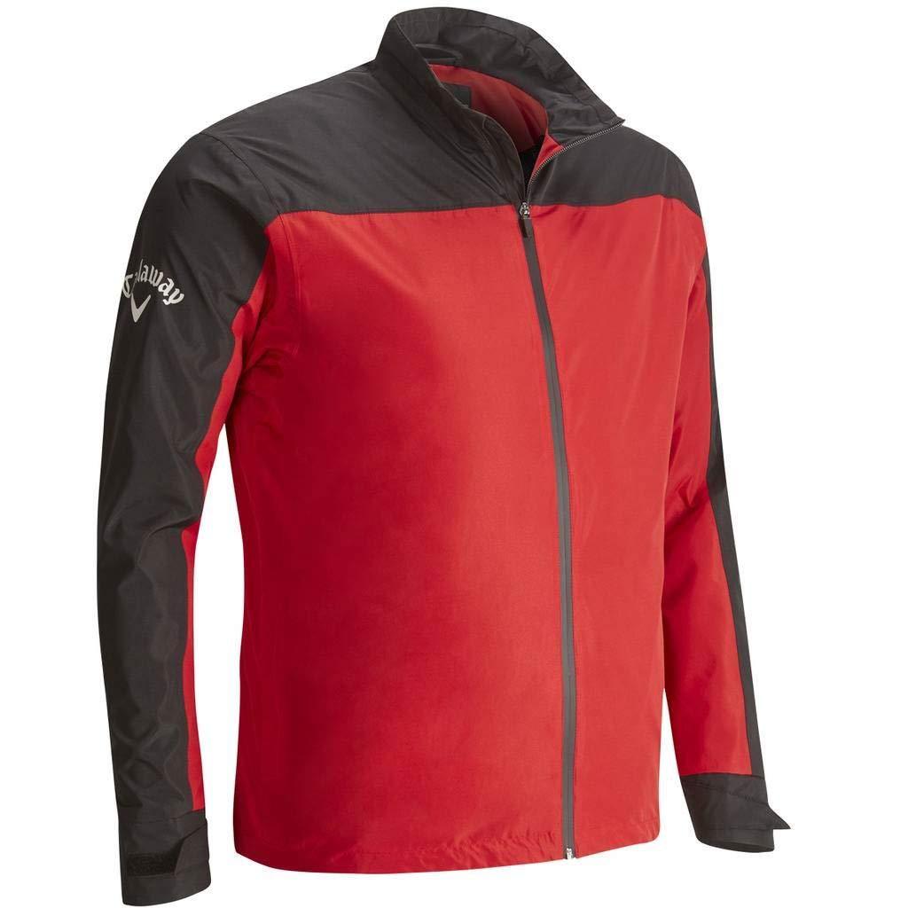 Callaway Golf 2018 Mens Weather Series Corporate Waterproof Golf Jacket Tango Red XL by Callaway