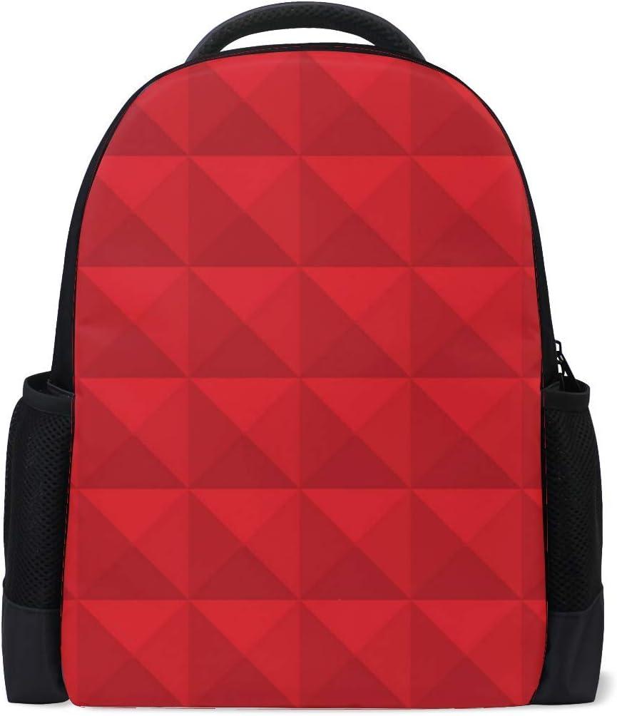 Pattern Embossed Geometric Bookbag School Backpack Luggage Travel Sport Bag