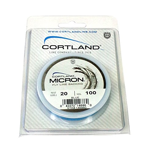 Cortland Micron Fly Line Backing 20 lb Test, BLUE (100 yards)