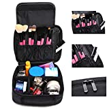 Makeup Bag,Coofit Portable Travel Bags Case Train Cases Cosmetic Bag Toiletry Bag Makeup Bag Case Black