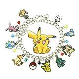 Pokemon 30th Anniversary ( 9 Themed Charms) Assorted Metal Charm BRACELET