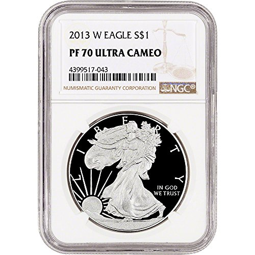 1993 Proof Silver Eagle (2013 W American Silver Eagle Proof (1 oz) Large Label $1 PF70 NGC UCAM)