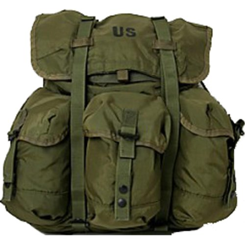 U.S. G.I. Medium Olive Drab Military Surplus Alice Pack with Straps Issued Rucksack