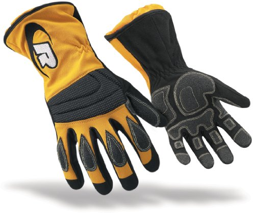 Ringers Gloves 304-09 Extrication Long Cuff Glove, Yellow...