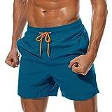 FASKUNOIE Swim Trunks for Men Athletic Board Shorts Lightweight Swimwear Nylon