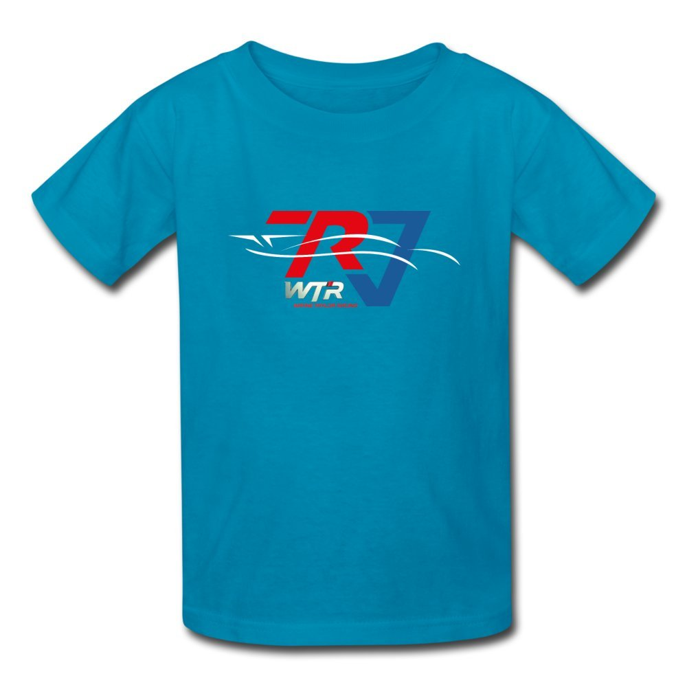 ATHLETE ORIGINALS Little Boys' T-Shirt Wtr Racing Profile by Ricky & Jordan Taylor M Turquoise