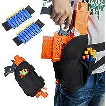 Junpro 1 PC Kids Tactical Waist Leg Holster Bag with 2 PCS Dart Wrister Bands Kits for Nerf Guns N-Strike Elite Series Blaster