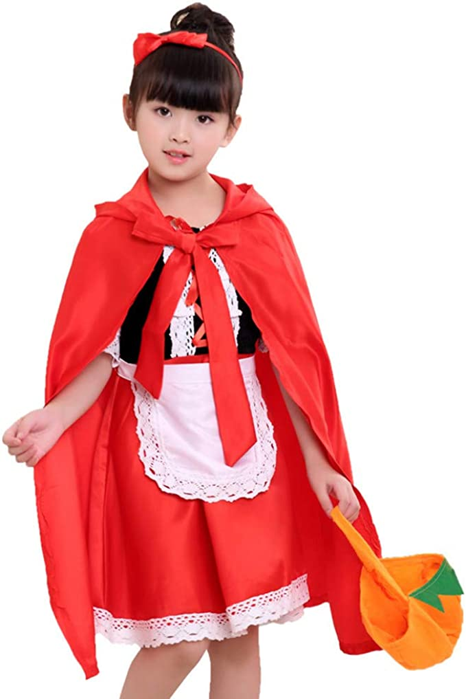MAYOGO Halloween Bolsa de Calabaza Infantil Niña Capa Cosplay ...