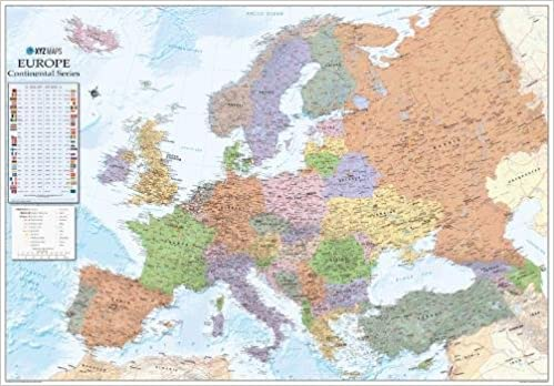 Buy Europe Political Wall Map 1 4 6 Million 2017 Plastic Coated