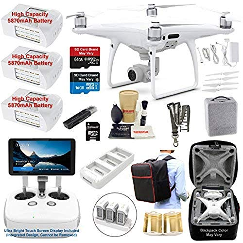 DJI Phantom 4 PRO PLUS (PRO+) Drone Quadcopter (Remote W/ Integrated Touch Screen Display) Bundle...