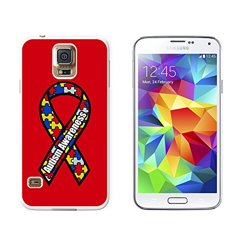 Autism Awareness - Snap On Hard Protective Case for Samsung Galaxy S5 - White
