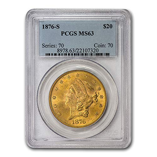 1876 S $20 Liberty Gold Double Eagle MS-63 PCGS G$20 MS-63 PCGS