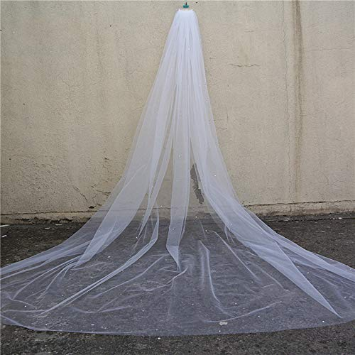 Scattered Crystal Rhinestones Wedding Veil, Cathedral Length 118