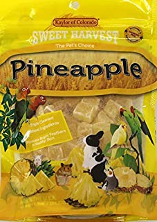 product image for Sweet Harvest Pineapple Treat, 6.5 Oz Bag - Real Fruit for Birds and Small Animals - Rabbits, Hamsters, Guinea Pigs, Mice, Gerbils, Rats, Cockatiels, Parrots, Macaws, Conures