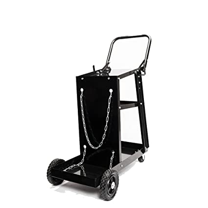 66f8a96470ad ROVSUN 3-Tier Welder Welding Cart Plasma Cutter, MIG TIG ARC Universal  Storage for Tanks w/ 2 Safety Chains, 360°Directional Wheels, 100lbs  capacity, ...