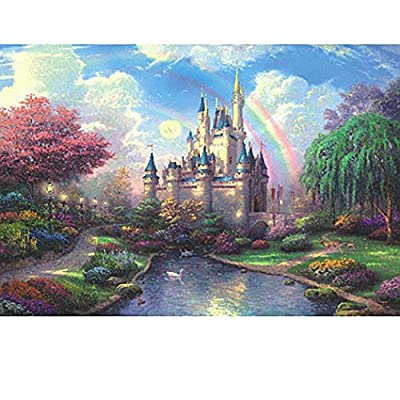 FUNMILY 1000Pcs Landscape Painting Puzzle Adult Decompression Children Early Education Toy Pegged Puzzles: Toys & Games
