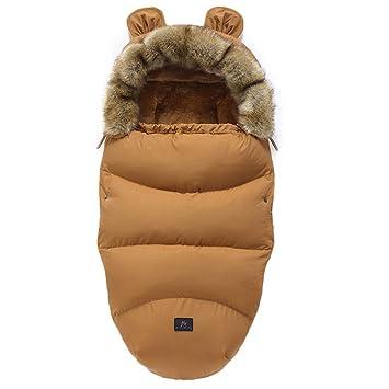 Fußsäcke Für Kinderwagen Universal Winter Warm Wasserdicht Winddicht Waschbar Baby Schlafsäcke Für Kinderwagen Autositz Sportwagen Buggy Babyschale Braun Baby