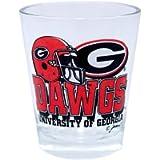 NCAA Georgia Bulldogs Helmet Shotglass