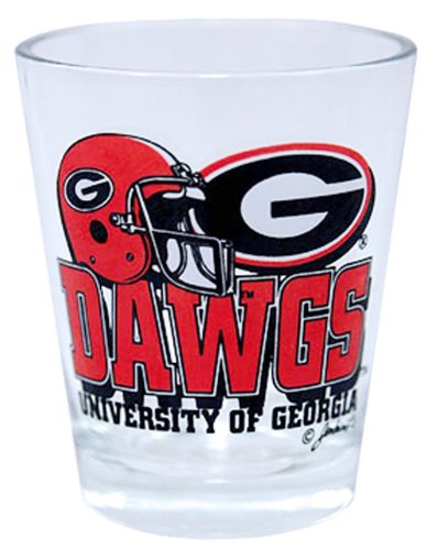 NCAA Georgia Bulldogs Helmet Shotglass (Glass Georgia Shot)