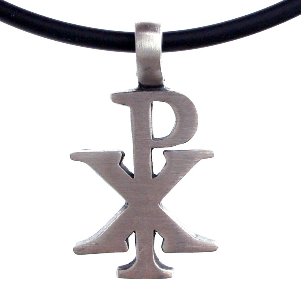 Amazon The Chi Rho Px Christogram Symbol Silver Pewter Pendant