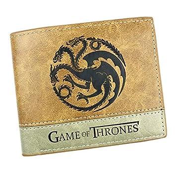 Hot Game of Thrones - Cartera de Piel con Logotipo en Relieve para Hombre y niña: Amazon.es: Hogar