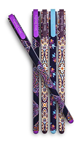 Vera Bradley Gel Pen Set of 5, Assorted Ink Colors, Dream Tapestry Multi