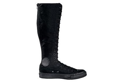 converse knee high boots. converse chuck taylor all star xxhi black monochrome 105383f mens 3.5 / womens 5.5 knee high boots