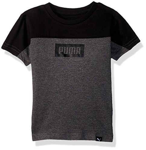 PUMA Toddler Boys' Rebel Tee, Charcoal Heather Grey, 4T