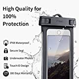 ESR Universal Waterproof Case, IPX8 Phone Pouch Underwater for Beach Pool Waterpark Kayaking, Sealed Touch ID for iPhone X/8 Plus/7 Plus/7/6S, Samsung S9/S8/S7/Note 6 5, Google, 2 Pack Black&White