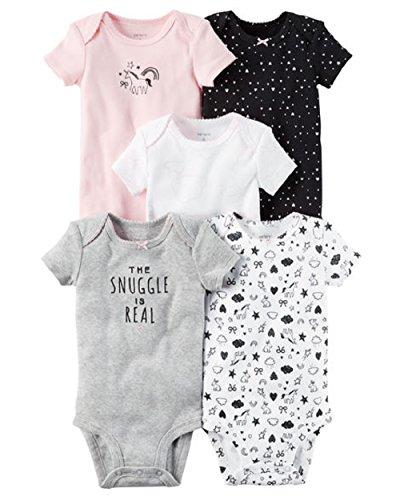 (Carter's Baby Girls' 5-Pack Bodysuits Preemie)