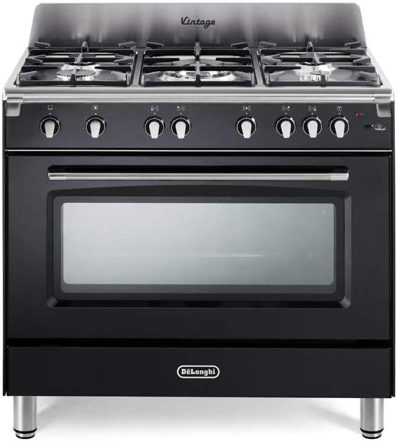 cocina A Gas 5 fuegos Horno de gas Ventilado 90 x 60 cm Color ...