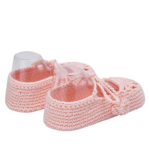 Pictures of Kuner Handmade Crochet Newborn Baby Shoes Mary 3