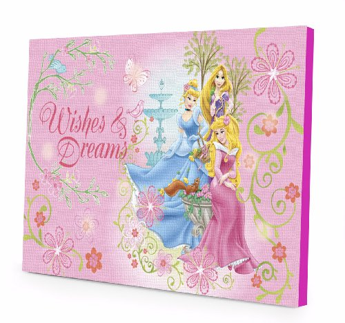 (Disney Princess LED Light Up Canvas Wall Art)