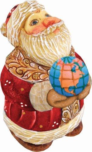 Derevo Collection (G.Debrekht 517661 Derevo Collection Santa Globe 4 in.)