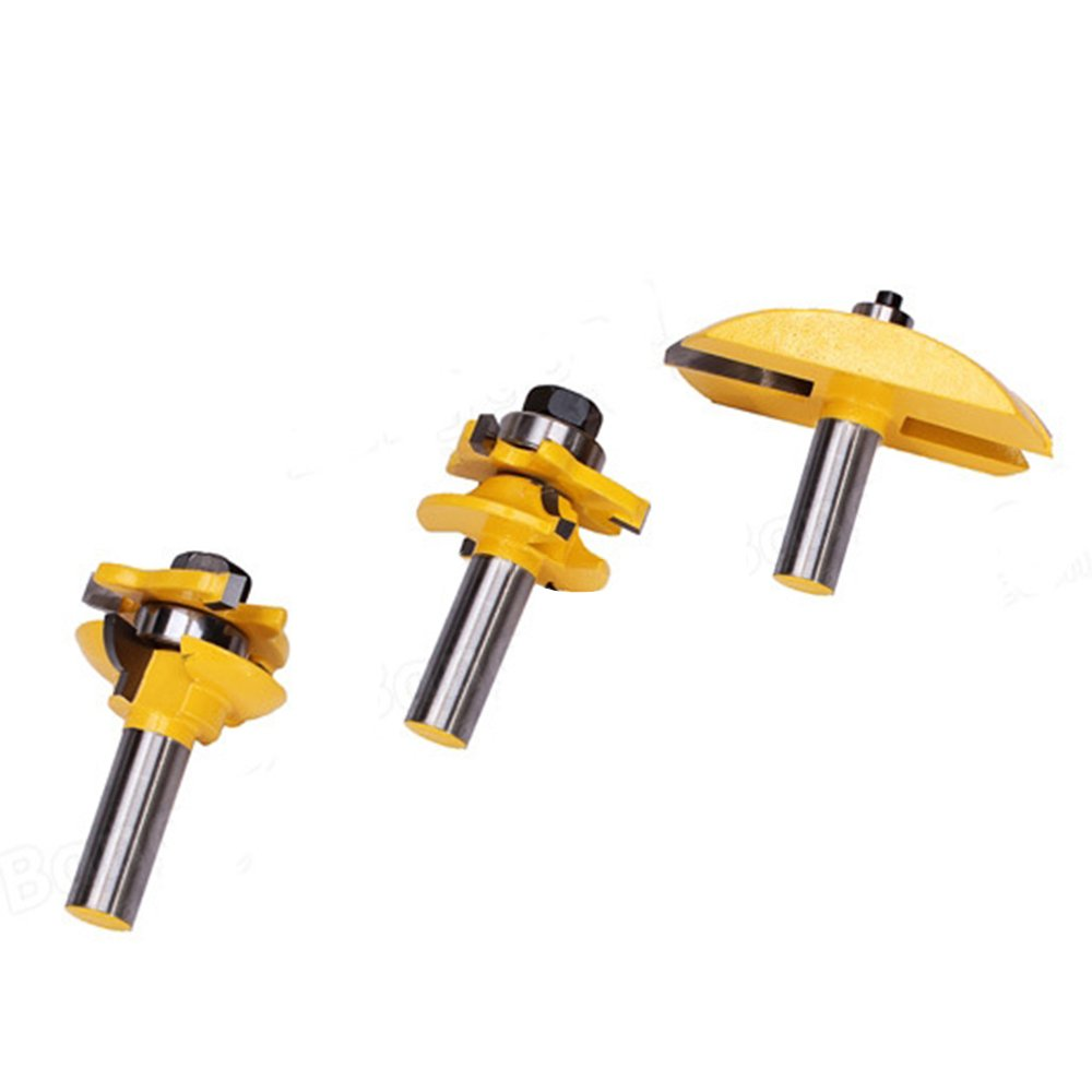 Your Supermart 3pc/Set 1/2?Shank Rail Blade Panel Router Bit Woodwork Tenon Cutter Tool