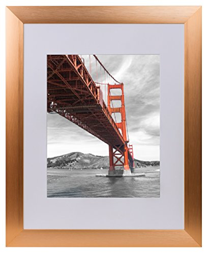 Frametory, 11x14 Aluminum Rose Gold Photo Frame with