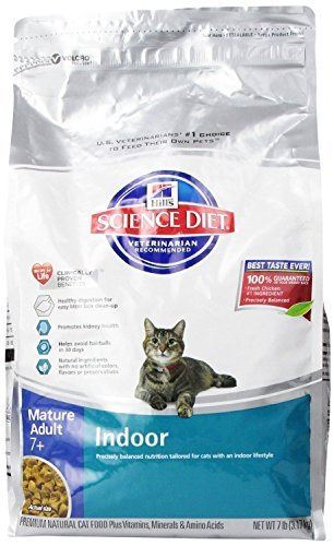 Hill's Science Diet Mature Adult Indoor Dry Cat Food, 7-poun