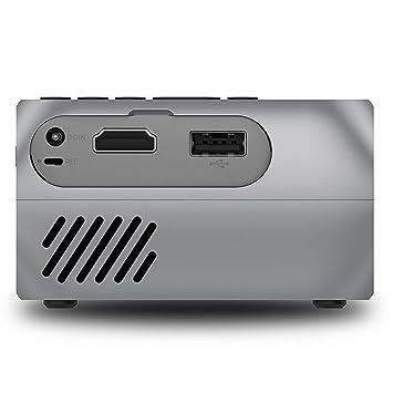 ASHATA Mini Proyector USB LCD, Buen Proyector para El Hogar, con ...