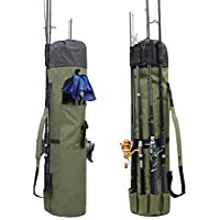 Allnice Durable Canvas Fishing Rod & Reel Organizer Bag...