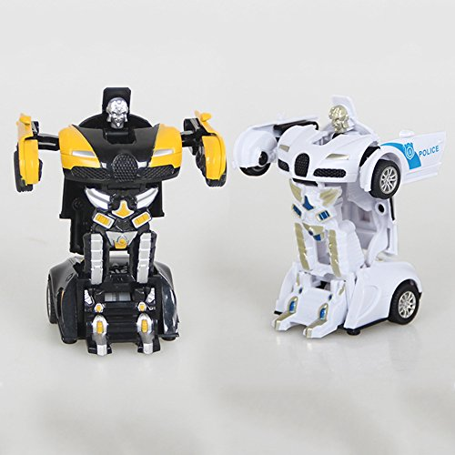 Liebye 変形車 創造的な変形レーシングカー変換ロボット子供のためのマニュアルおもちゃ(ランダムスタイル)