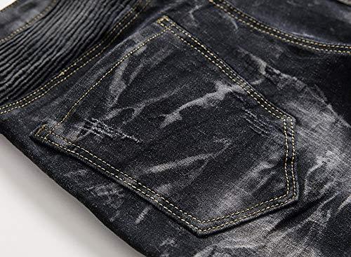 Zezkt Pantalons Noir Coupe Pour De Évasée Sport Jeans Taille Jean Bootcut Homme Homme TTrBaxFwqH