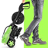 Homdox 3000 PSI Pressure Washer, 3000 PSI Electric Pressure Washer 1.80 GPM 1800W Electric Power Washer with 5 Quick-Connect Spray Tips (Green)