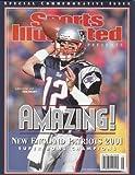2001 New England Patriots Super Bowl 36 (xxxvi) Champions Sports Illustrated Commemorative 'Amazing' Tom Brady Cover