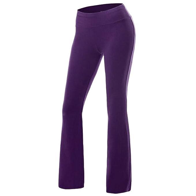 beste Turnschuhe 677b6 a6ac7 Oeak Damen Sporthose Weites Bein Freizeithose Yoga Hose Bootcut Schlaghose  Stretch Fitnesshose Lang Leggings Slim Fit Pants